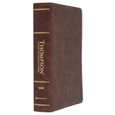 NASB 77 Thompson Chain-Reference Bible, Imitation Leather, Brown