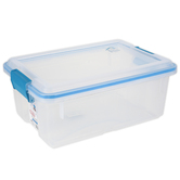 Sterilite, Gasket Box Sealed Storage Container, Clear & Blue, 12 Quarts, 16 x 11 1/4 x 6 3/4 inches