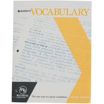 Master Books, Jensen's Vocabulary Textbook, by Frode Jensen, Paperback, Grades 10-12