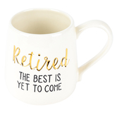 Enesco, Our Name Is Mud, Retired The Best Is Yet To Come Coffee Mug, Stoneware, White, 16 ounces
