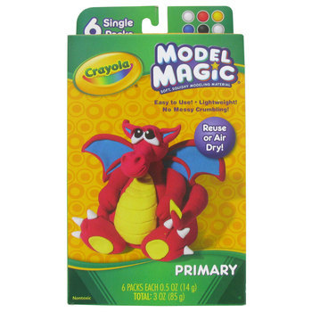 Crayola, Model Magic Modeling Compound, Assorted Primary Colors, 6 Count