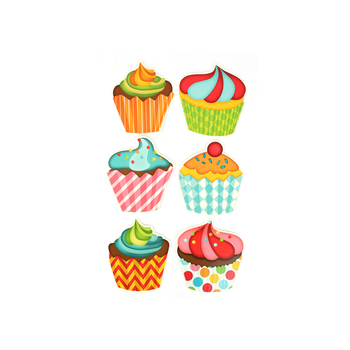 Renewing Minds, Happy Birthday Mini Cupcakes Cutouts, 36 Pieces