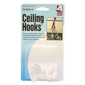 Adams Mfg., Ceiling Hooks, Clear, 2 Pack