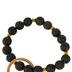 the Jewelry Shoppe, Lava Bead Bracelet Keychain, Black, One Size Fits Most