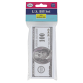 Didax, United States Currency Bill Set, 105 Bills, Grades 1 to 6