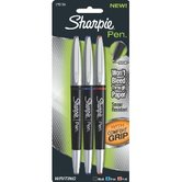 Sharpie, Pen with Grip, Fine Point, Assorted Colors, Pack of 3