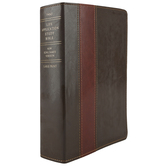 NKJV Life Application Study Bible, Large Print, Duo-Tone, Brown and Tan, Thumb Indexed