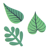 Carson-Dellosa, Tropical Leaves Extra Large Cut-Outs, Pack of 12