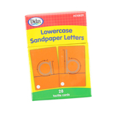 Didax, Tactile Sandpaper Lowercase Letters, Grades K-1, 28 Cards