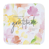 Legacy Publishing Group, Gratitude Coaster, Pink, 3 3/4 x 3 3/4 Inches