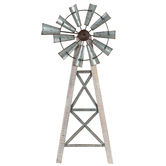 Windmill Wall Art, Wood and Metal, 33 1/2 x 14 3/4 inches