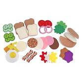 Melissa & Doug, Felt Food Sandwich Set, Ages 3 to 7 Years Old, 33 Pieces