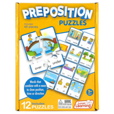 Junior Learning, Preposition Puzzles, 12 Puzzles, 48 Pieces, Ages 5 Years and Older