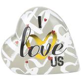 Roman, Inc., I Love Us Musical Heart, 4 x 3.50 Inches
