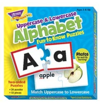 Uppercase & Lowercase Alphabet Fun To Know Puzzle