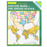 McDonald Publishing Outline Maps The United States Reproducible Workbook, Paperback, 24 Pages, Grades 6-9