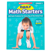 Scholastic, Daily Math Starters Grade 5 Activity Book, by Bob Krech, Paperback, 80-Pages