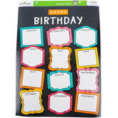 Renewing Minds, Customizable Happy Birthday Chart, Photo Frames, 17 x 22 Inches, 1 Each