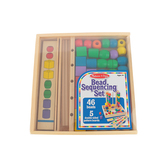 Melissa & Doug, Bead Sequencing Set Classic Toy, Wood, 57 Pieces, Ages 4 to 6 Years Old