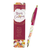 CTA, Strong & Courageous Bookmark and Pen Set, 6 x 1 1/2 Inches