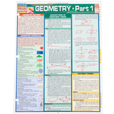 BarCharts Inc, Geometry Part 1, Quick Study Academic Guide, Laminated, Grades 5-Adult