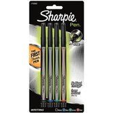 Sharpie, Permanent Pens, Fine Point, Assorted Colors, Pack of 4