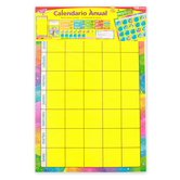 TREND enterprises, Inc., Calendario Anual Spanish Calendar Bulletin Board Set, 106 Pieces