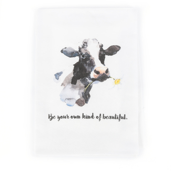 Southern Sisters, Be Your Own Kind of Beautiful Cow Tea Towel, Cotton, 30 x 30 inches