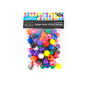 Tree House Studio, Large Hole Round Beads, 11 x 13mm, Assorted Colors, 85 count
