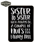 Open Road Brands, Nuts Off the Family Tree Magnet, Tin, Black, 3 1/2 x 5 inches