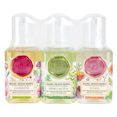 Michel Design Works, Mini Foaming Hand Soap Set, Confetti, Pink Cactus, Posies, 4.7 ounces each