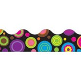 Teacher Created Resources, Scalloped Border Trim, 35 Feet, Colorful Circles