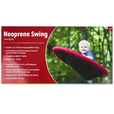Hearthsong, Sensory Snuggle Oval Swing, Red & Black, 36 x 24 inches