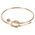 Modern Grace, Psalm 37:4 Nail Twist Bangle Bracelet, Zinc Alloy, Gold