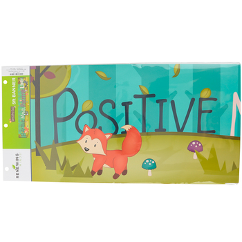 Woodland Tails Collection, Positive Mind...Banner, Multi-Colored, 5 Foot