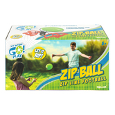 Toysmith, Zip Ball Zip Line Football, Ages 5 and Older