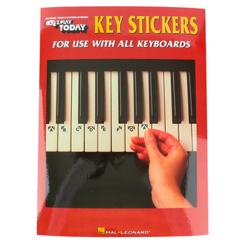Hal Leonard, E-Z Play Today Key Stickers for Keyboards, 4 Pages, 9 x 12 inches