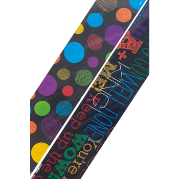 Chalk Talk Collection, Wide Double-Sided Border Trim, 38 Feet, Words and Dots