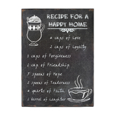 Recipe for a Happy Home Wall Plaque, 12 x 16 inches