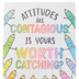 Renewing Minds, Attitudes Are Contagious Motivational Poster, 13.25 x 19 Inches, 1 Piece
