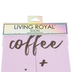 Living Royal, Coffee and Jesus Ankle Socks, Polyester, Pink, One Size Fits Most