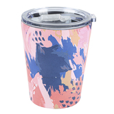 Mary Square, Abstract Stainless Coffee Tumbler, Stainless Steel, Galileo, 12 Ounces