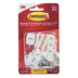 Command, Small Wire Hooks, White, Pack of 9
