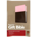 NLT Premium Gift Bible, Duo-Tone, Pink and Brown