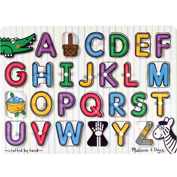 Melissa & Doug, See-Inside Alphabet Peg Wooden Puzzle, Ages 3 to 5 Years Old, 26 Pieces