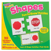 TREND enterprises, Inc., Shapes Fun-to-Know Puzzles, 40 Pieces, Ages 3+
