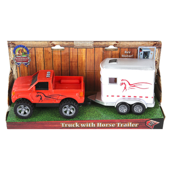 Sunny Days, Blue Ribbon Champions Truck with Horse Trailer Toy, 9 1/4 x 3 x 3 1/4 inches