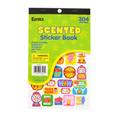 Eureka, Scented Sticker Book, 4 Smells, Multi-Colored, Variety of Sizes, Pack of 302