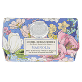 Michel Design Works, Magnolia Large Bath Soap Bar, 8.7 ounces, 4 3/8 x 2 3/4 x 2 inches