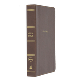 NKJV Personal Size Giant Print Reference Bible, Imitation Leather, Brown